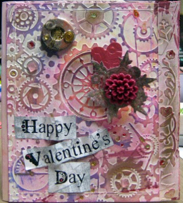 Valentines steampunk card