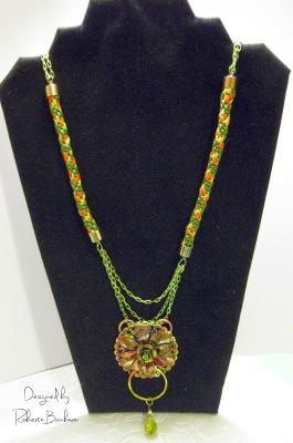 Dazzle-it Floral drop Neo Chain necklace