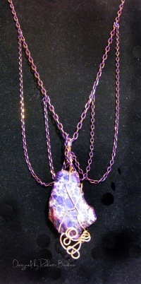 Dazzle-it Neo Chain purple wrapped pendant 1