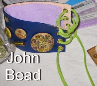 John Bead jewelry leather