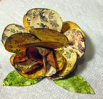 multi petal paper flower Ann Butler stamps