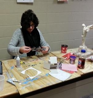 3D Christmas paper crafts class Dec 2014