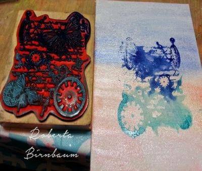 Roberta Birnbaum love canvas board hangable art