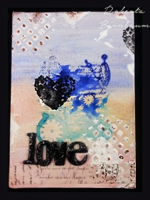 Roberta Birnbaum Love canvas board